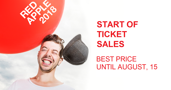 The 28th International Advertising Festival Red Apple opens the sale of tickets at an attractive price. Only until August, 15 you can buy tickets with 50% discount — 6 900 rubles, then the cost will increase.